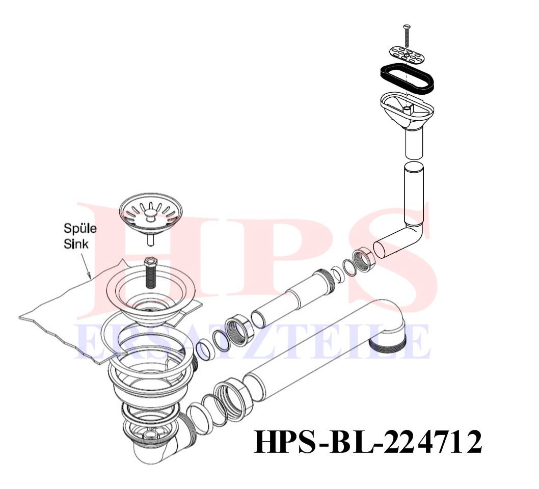 Blanco Ablaufgarnitur Hps Bl Ha 224712